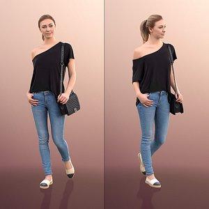 3D 10043 Ramona Casual Woman Walking With Purse model