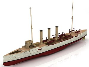 3D Small Cruiser Koenigsberg1916 Class Imperial German Navy