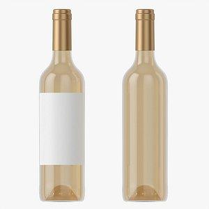 3D Wine bottle mockup 05