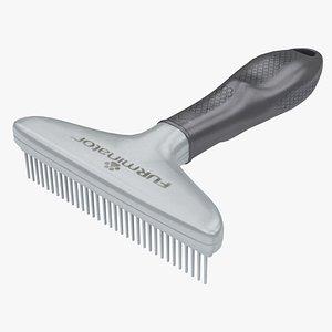 Pet Comb Furminator Gray 3D model
