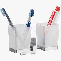 Double Toothbrush Holder Set