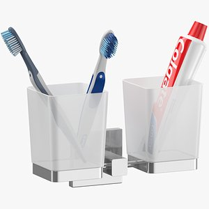 toothbrush holder set 3D model