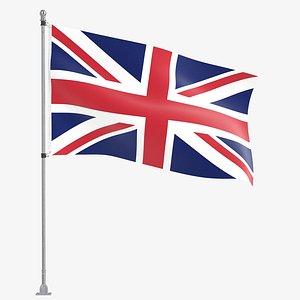 flag flagpole outdoor 3D model