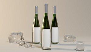 3D Wine bottle model