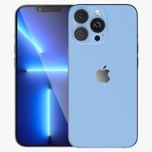 Apple iPhone 13 Pro Max Blue 3D model