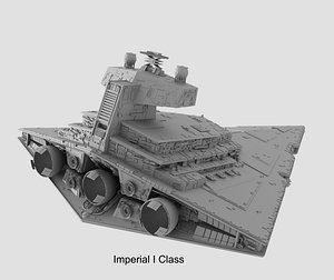 3D imperial star destroyer starship
