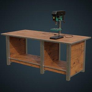 drill press workbench 3D model