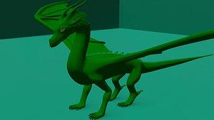 Wings of Fire RainWing 3D model