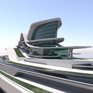 Modern Building 12 3D