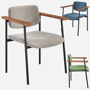 3D cb2 warren chair velvet