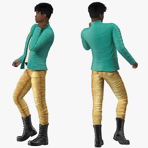 Light Skin Teenager Fashionable Style Rigged for Modo 3D model
