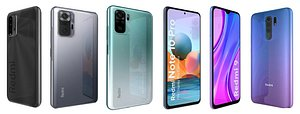 Xiaomi Redmi 9 And Note 10 Collection 3D model