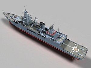 hamburg frigate f-124 3D model