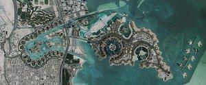 The Pearl Qatar Doha 2021 3D model