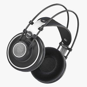 3D model akg headphone head