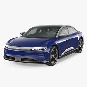 3D Electric Luxury Sedan Rigged