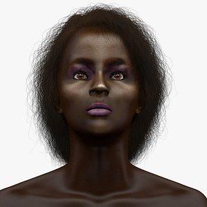 woman head l1158 3D model