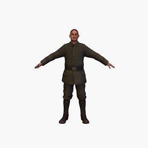 3D model soldier deu