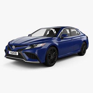 3D Toyota Camry XSE hybrid 2021 model