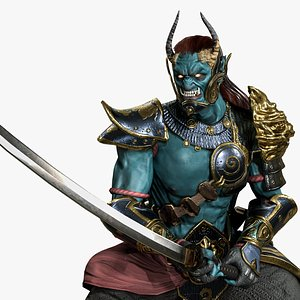 3D model yokai oni warrior character