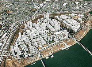 3D model city seoul south
