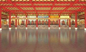 Temple ancient temple ancient temple Buddhist temple Shaolin temple ancient temple Taoist temple Tao 3D model