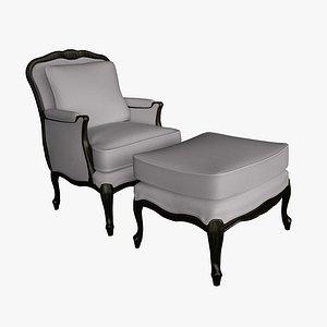 chair ottoman style model