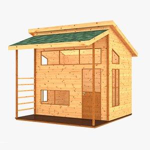 3D wooden children playhouses
