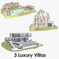 Luxury Villa Collection - Low Poly - Textured