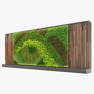 Greenwall vertical garden V02 3D model