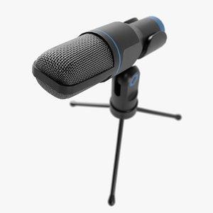 micro microphone studio 3D