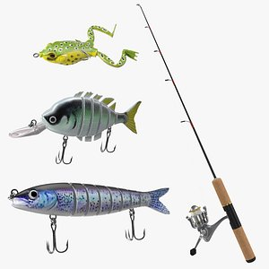 Fishing Lure Collection 3D model