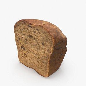 rye bread 3D