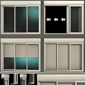 sliding stained glass windows model
