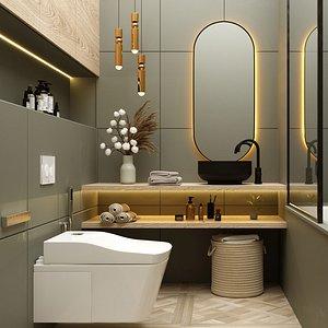 bathroom modern scene 3D model