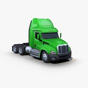 freightliner cascadia semi truck 3D model