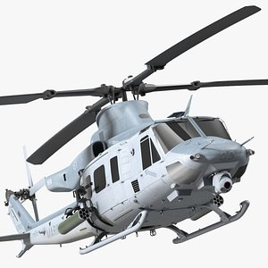 3D Bell UH1Y Venom Helicopter Exterior Only