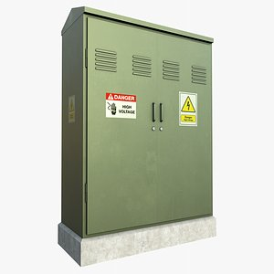 3D Electrical Box 2 With PBR 4K 8K model