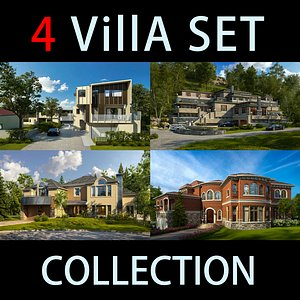 villa exterior 3D model