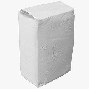 3D Flour White Paper Bag 5lb