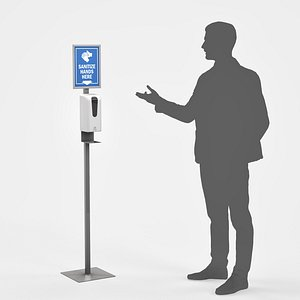 3D touchless hand sanitizer stand model