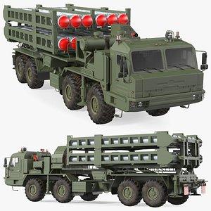 3D Vityaz S 350E 50R6 Missile Launcher