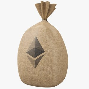 Money Bag v6 Ethereum with Pbr 4K 8K 3D model