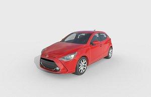 3D model Low Poly Car - Toyota Yaris 2020