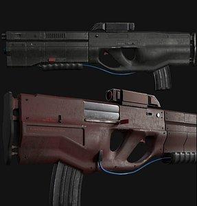 3D rifle sci fi model