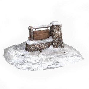 national park sign 3D model