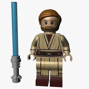 3D Lego Obi-Wan Kenobi model