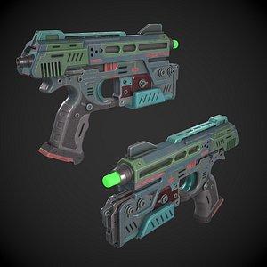 3D model Sci-fi Plasma Sidearm