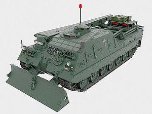 3D Leopard 2 Bergepanzer 3 Buffel ARV  Ultra Detailed Bysanders 3D Models model