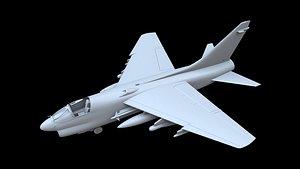 ltv a-7d corsair ii 3D model